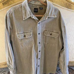GAP grey corduroy shirt jacket
